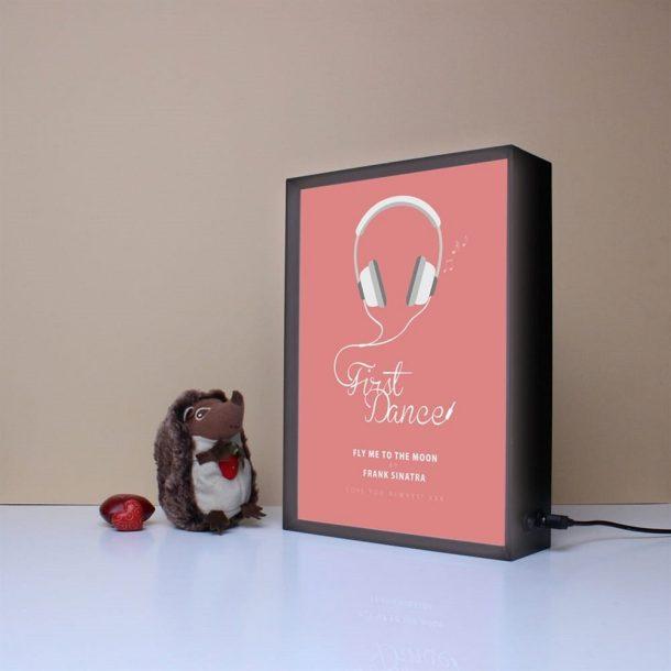 Personalised Sentimental Song Light Box