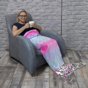 Personalised Sequin Mermaid Blanket