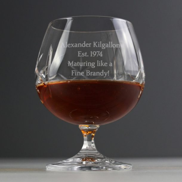 Personalised Small Crystal Brandy Glass