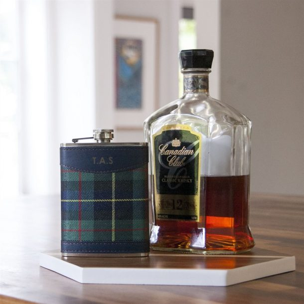 Personalised Tartan Hip Flask