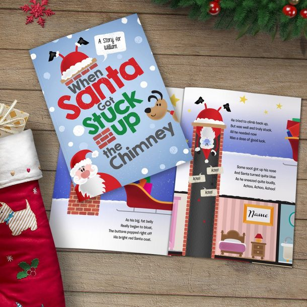 Personalised When Santa Got Stuck Up The Chimney Softback Book