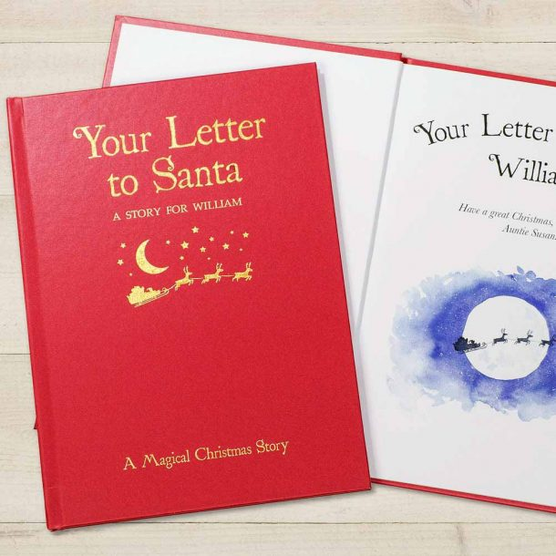 Personalised Your Letter to Santa Classic Hardback Book