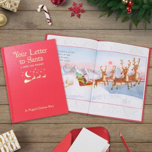 Personalised Your Letter to Santa Embossed Book