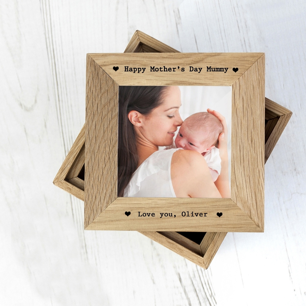 Personalised Oak Picture Cube & Keepsake Box | Love My Gifts