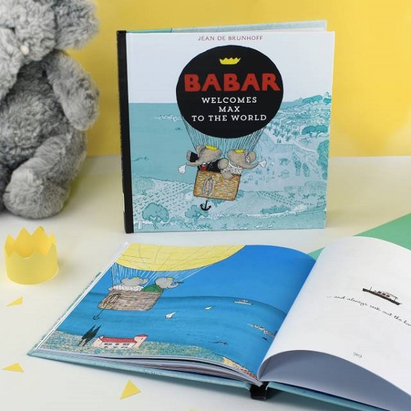 Personalised Babar Welcomes you to the World Book