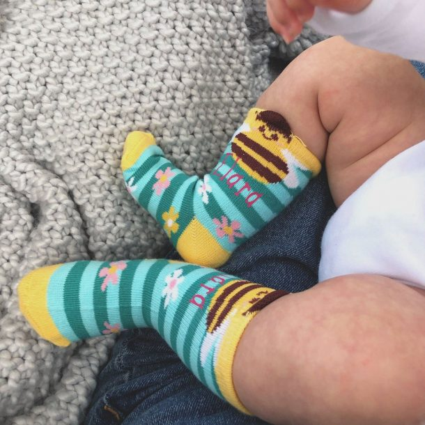 Personalised Bumble Bee Baby Socks