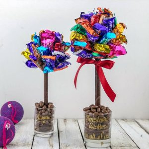 Personalised Chocolate Roses Sweet Trees