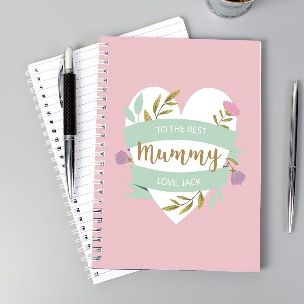 Personalised Floral Mother's Day A5 Notebook