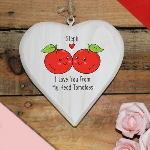 Personalised From My Head Tomatoes Hanging Heart