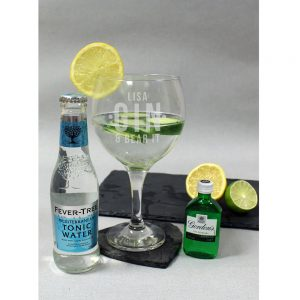 Personalised Gin and Bear It Balloon Glass Gift Set