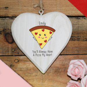 Personalised Pizza My Heart Hanging Heart