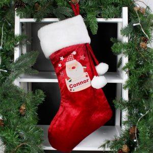 Personalised Pocket Santa Luxury Stocking