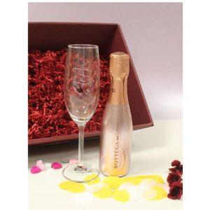 Personalised Rose Gold Bottega & Flute Set