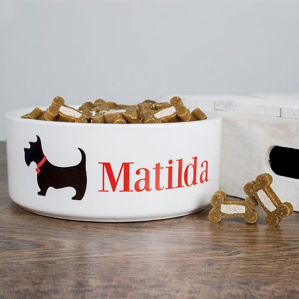 Personalised Scottie Dog Food Bowl