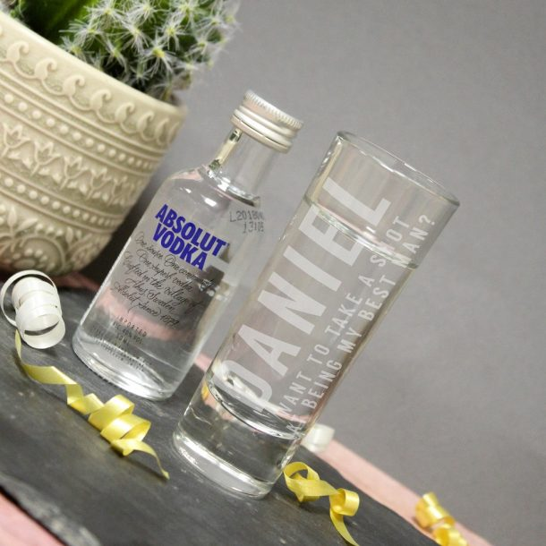 Personalised Take A Shot Vodka Gift Set