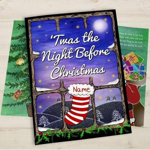 Personalised Twas the Night Before Christmas Softback Book