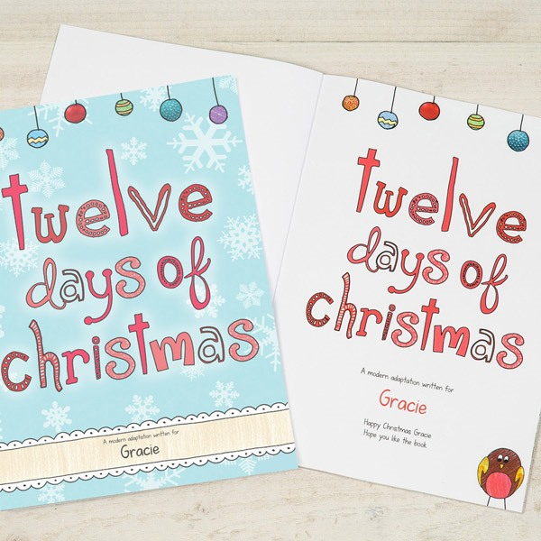 Personalised Twelve Days Of Christmas Softback Book
