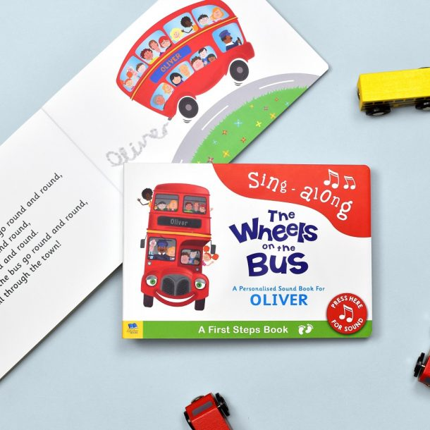 Personalised Wheels on the Bus First Steps Sound Book
