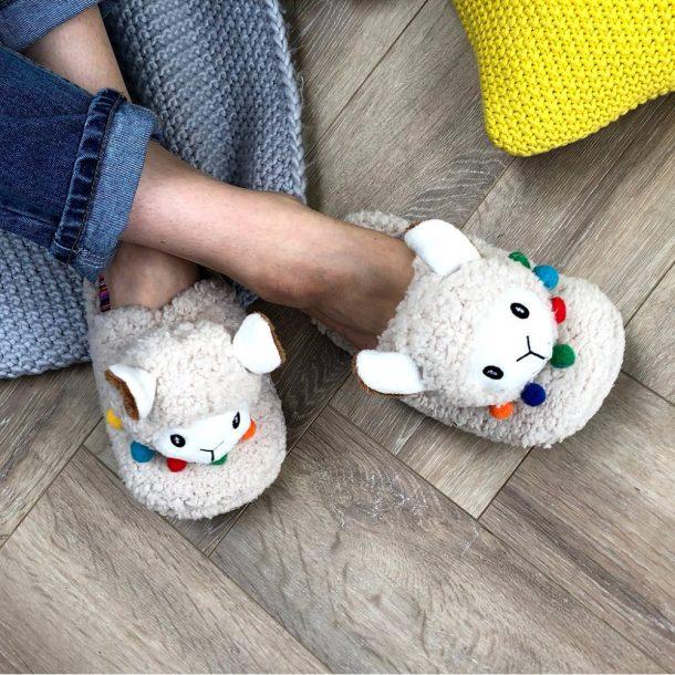 3D Women's Llama Slippers