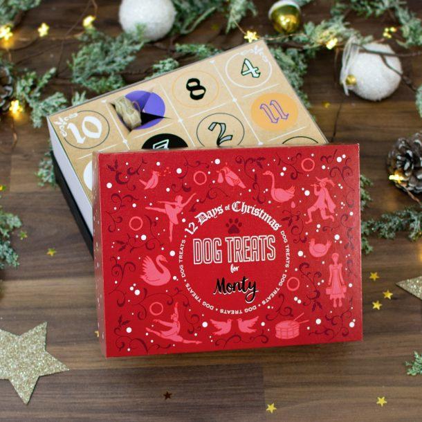 Personalised 12 Days of Christmas Gift Box – Dog Treats