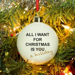 Personalised All I Want For Christmas Bauble