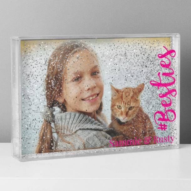 Personalised Besties 6x4 Glitter Shaker Photo Frame