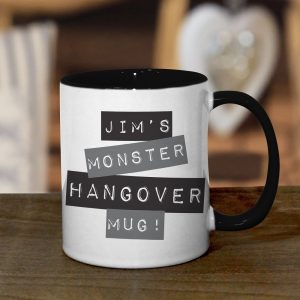 Personalised Black Monster Hangover Mug