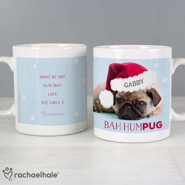 Personalised Christmas Bah Hum Pug Mug