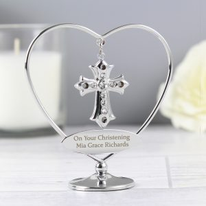 Personalised Crystocraft Cross Ornament