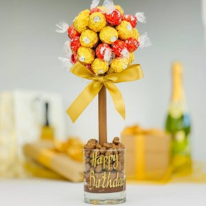 Personalised Ferrero And Lindor Truffle Sweet Trees