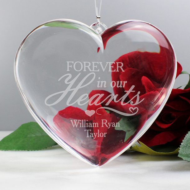 Personalised Forever In Our Hearts Heart Decoration