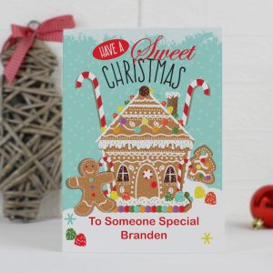 Personalised Gingerbread House Cards