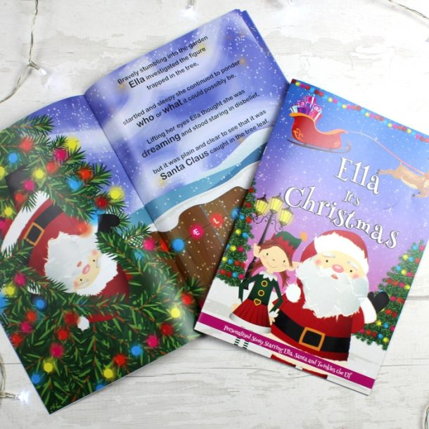 Personalised Girls It's Christmas Story Book