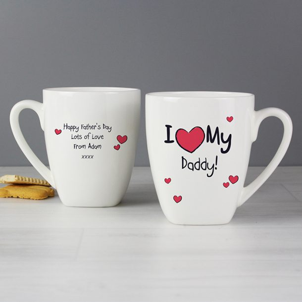 Personalised I Heart My Latte Mug
