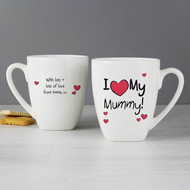 Personalised I Heart My Mummy Mug