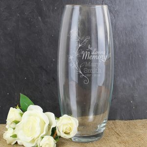 Personalised In Loving Memory Bullet Vase