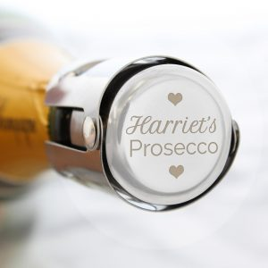 Personalised Love Heart Prosecco Bottle Stopper