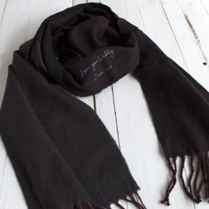 Personalised Men's Hidden Message Herringbone Scarf