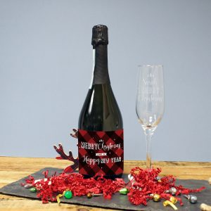 Personalised Merry Christmas Prosecco Gift Set