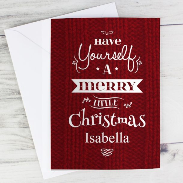 Personalised Merry Little Christmas Cards
