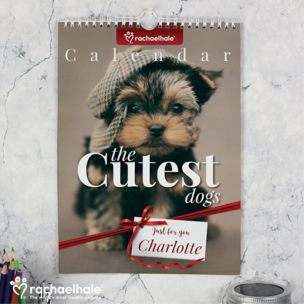 Personalised Rachael Hale The Cutest Dogs A4 Wall Calendar