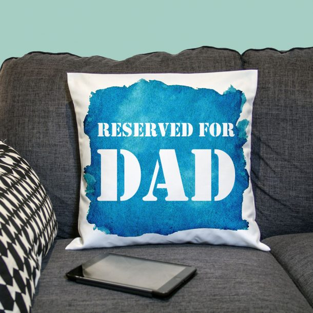 Personalised Reserved For Blue Cushion Cover