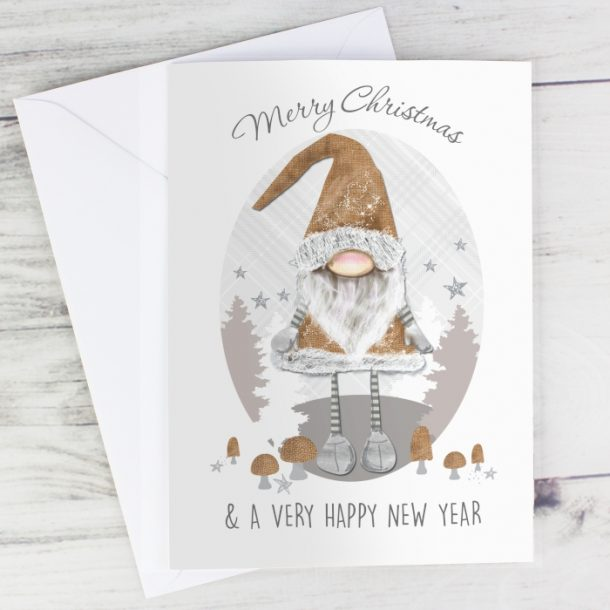Personalised Scandinavian Christmas Gnome Cards