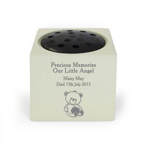 Personalised Teddy Bear Memorial Vase