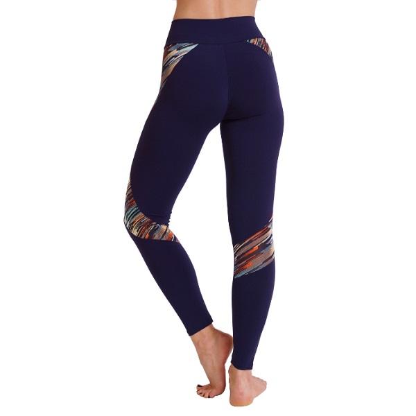 Nicole Navy&StripedPrint Gym Leggings