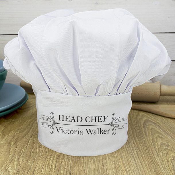 Personalised Head Chef's Hat