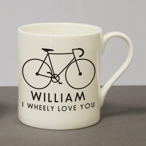 Personalised I Wheeley Love You Mug