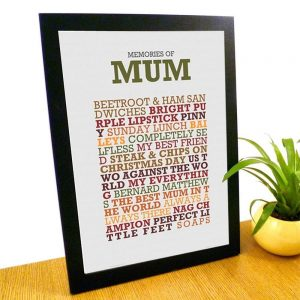 Personalised Memories Of A4 Framed Poster