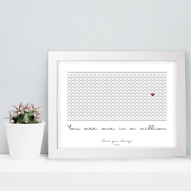 Personalised One in a Million A4 Framed Poster