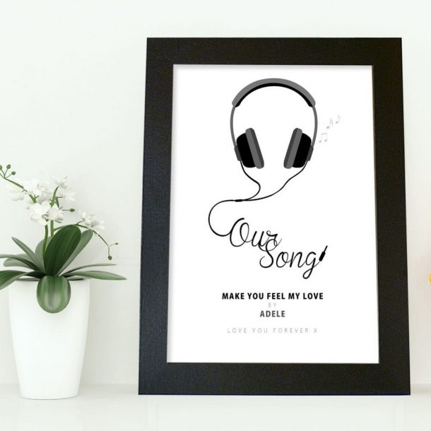 Personalised Our Song A4 Framed Poster